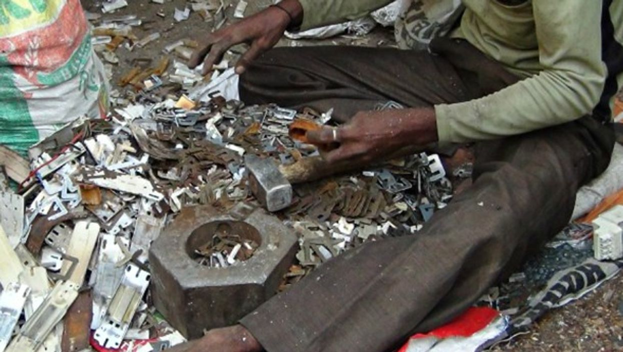 Sifting through e-waste in Seemapuri