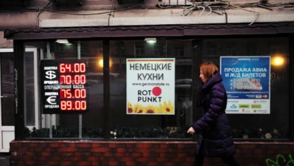 Signs of sinking ruble in Moscow