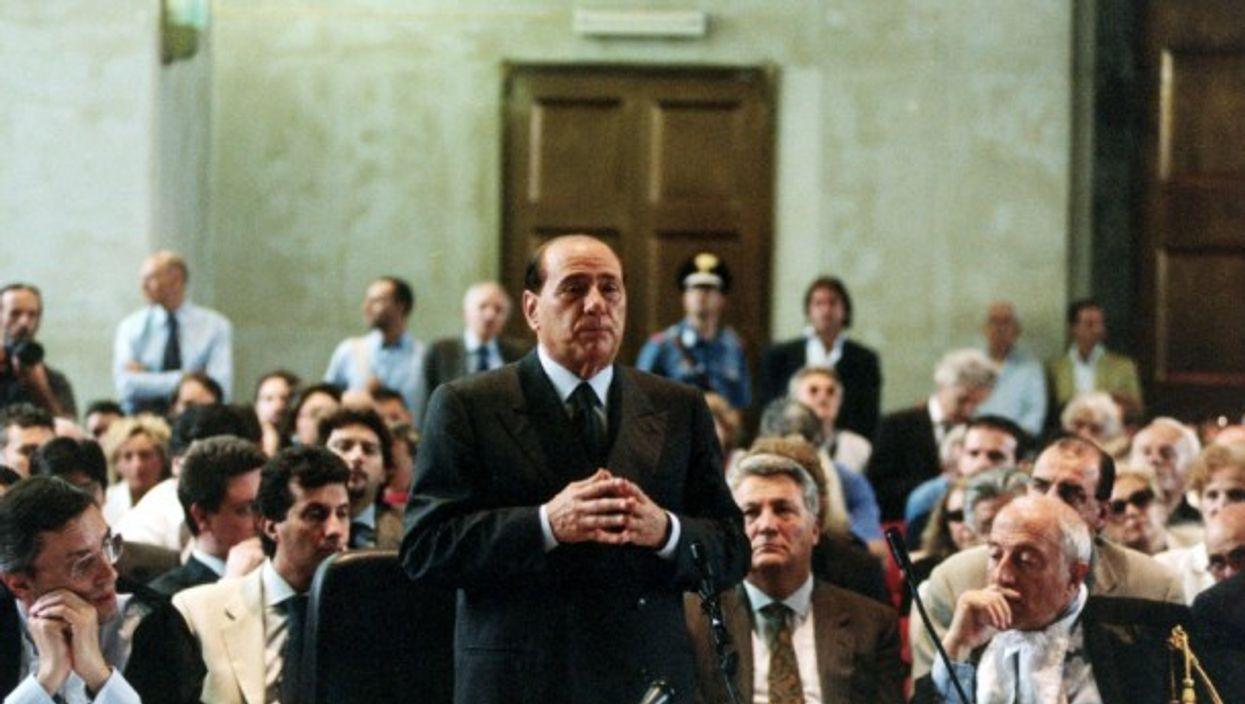 Silvio Berlusconi in court in Milan in 2003
