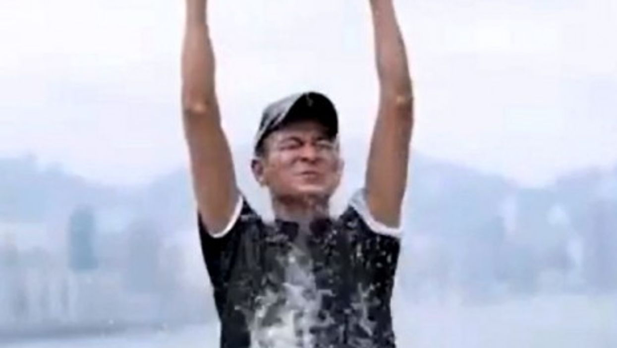Singer Andy Lau accepts the Ice Bucket Challenge