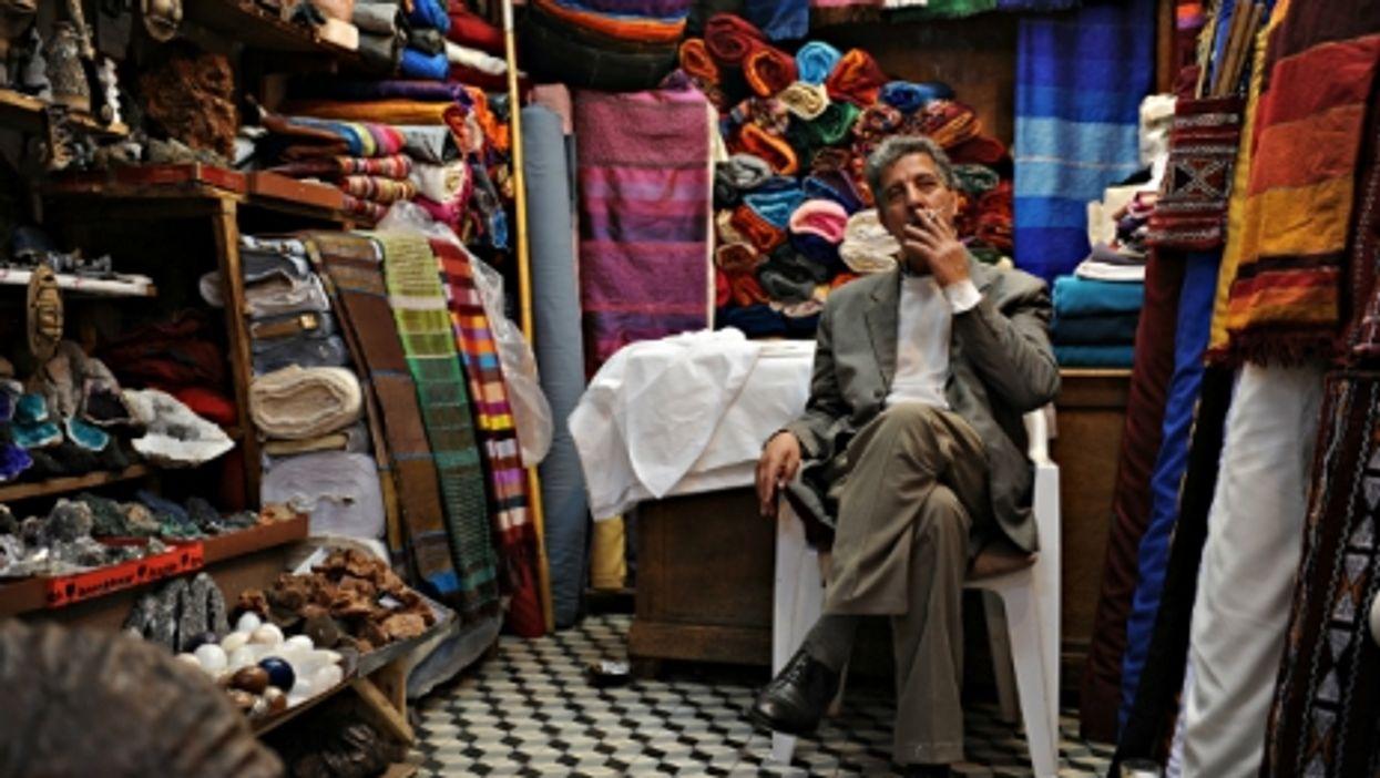 Smoking a cigarette in Marrakesh