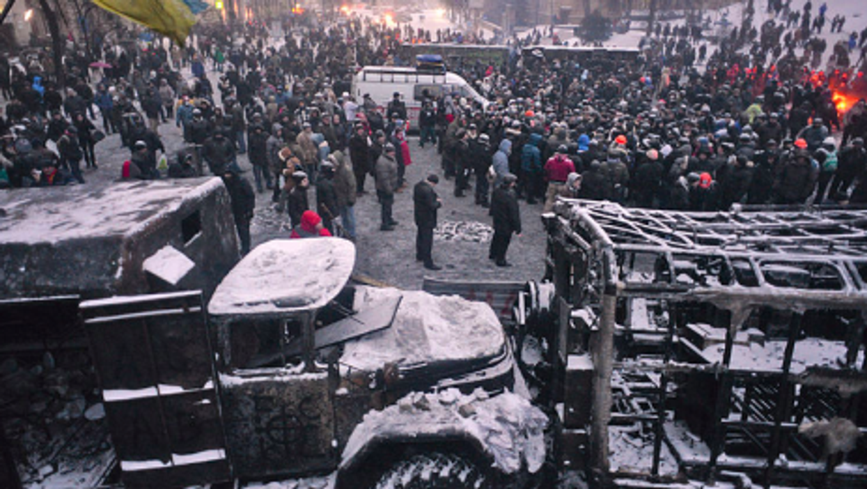 Snow, fire and determination in Kiev