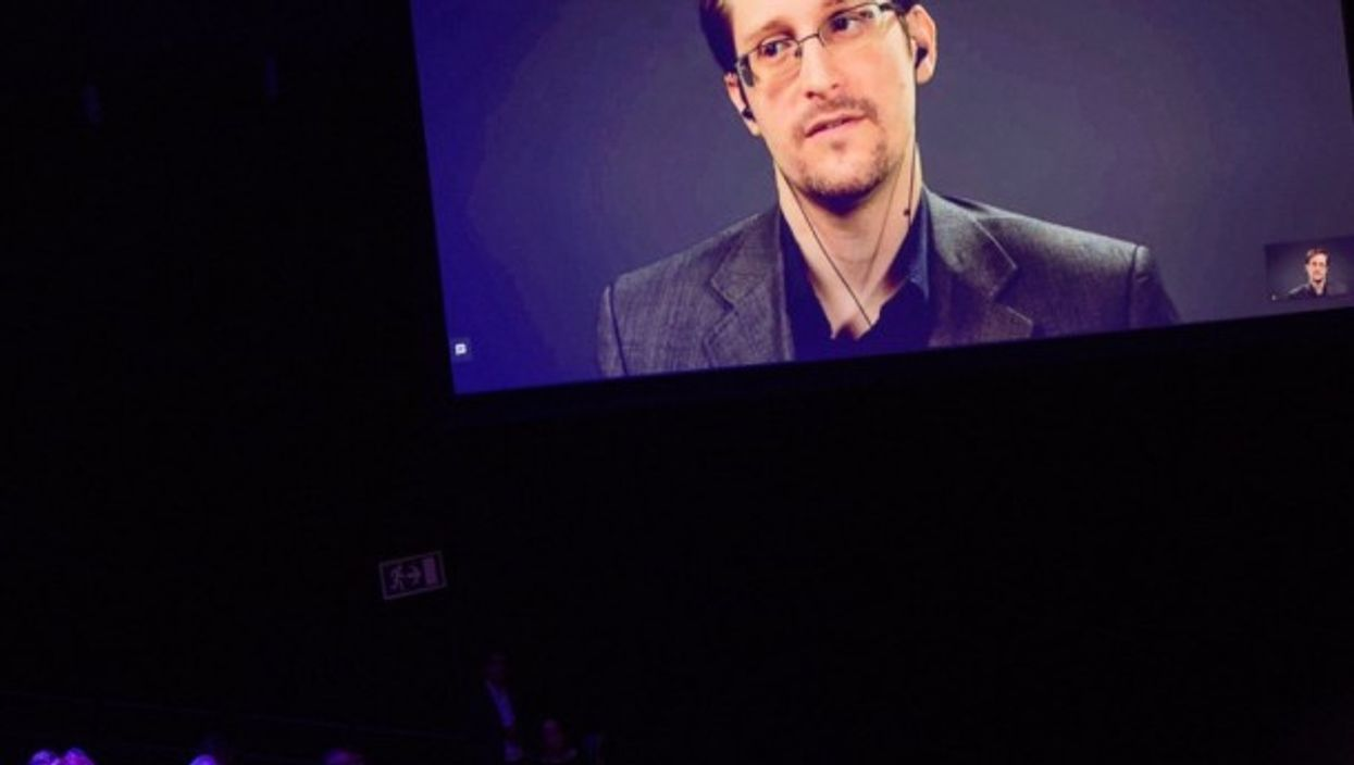 Snowden has appeared all over Europe, always remotely.