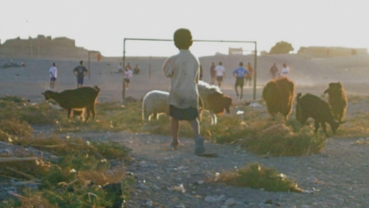 Soccer field near Luxor