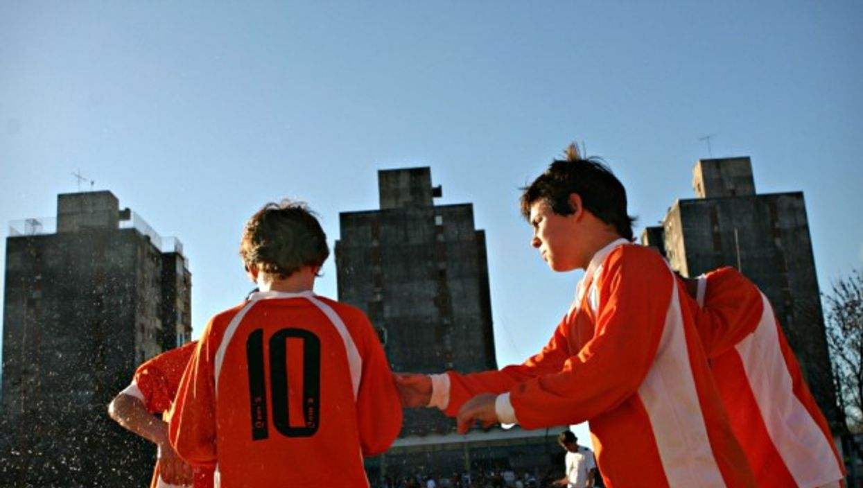 Soccer quarrels in Rosario, Argentina
