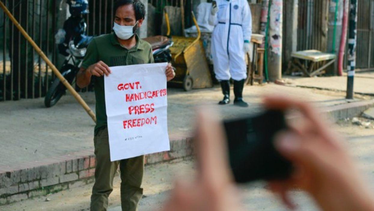 Social activists gathered in protest to demand the immediate release of Bangladeshi journalist Shafiqul Islam kajol, in Dhaka, Bangladesh.