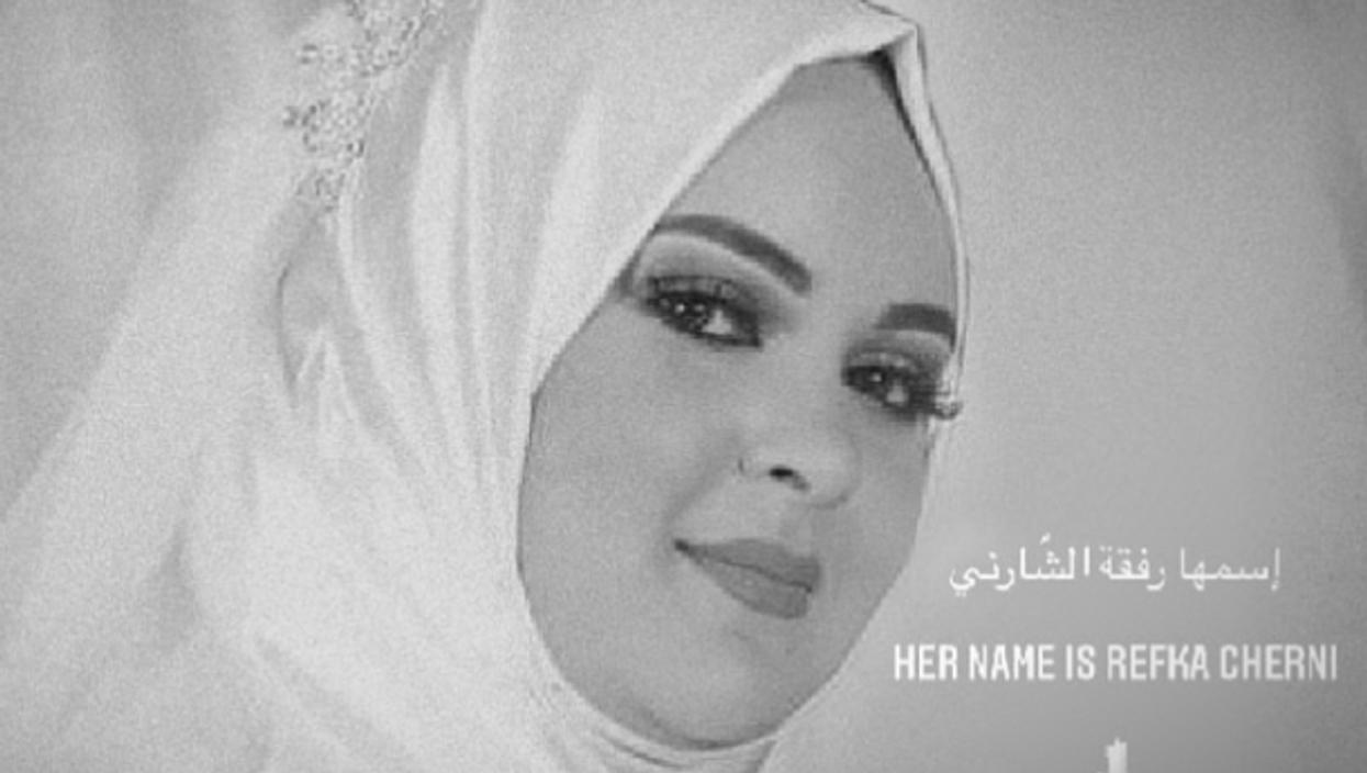 Social media post paying tribute to Refka Cherni, victim of domestic violence