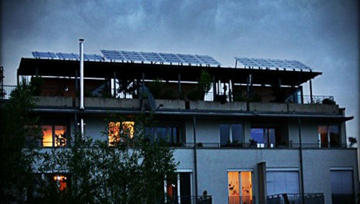 Solar darkness in Freiburg, Germany