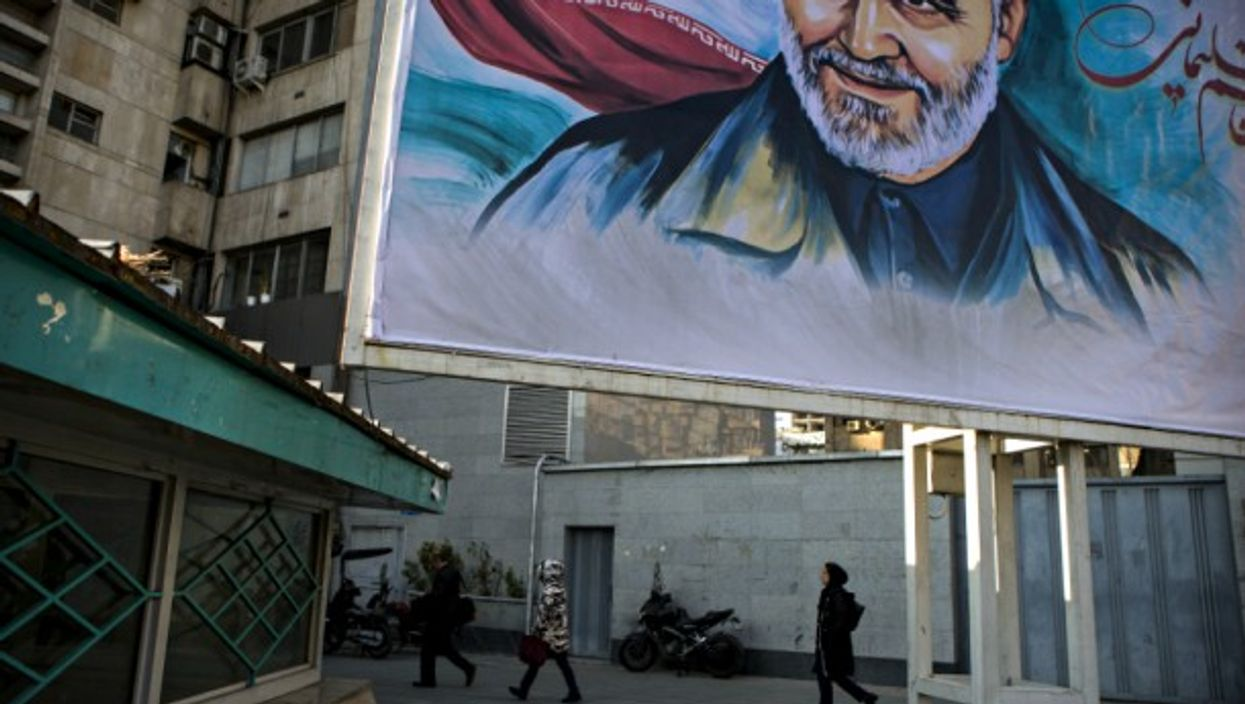 Soleimani poster in Tehran on Jan. 6