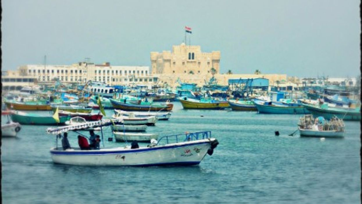Some 3,000 other Syrian refugees have left Egypt for Lampedusa since August. Pictured: The port of Alexandria