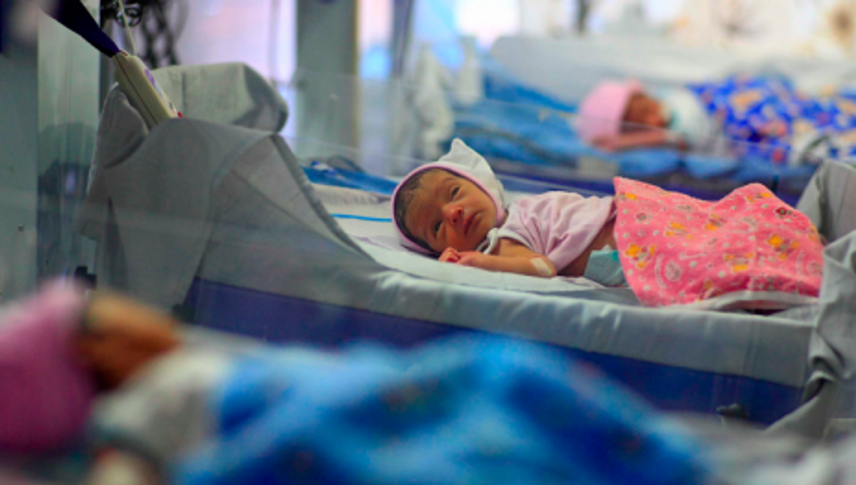 Some of the babies recently born at the clinic in Anand