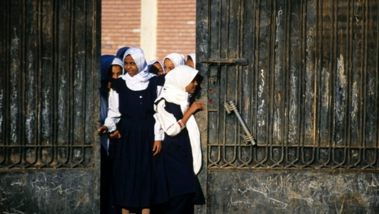 Some schools in Egypt were accused of forcing students to wear headscarves