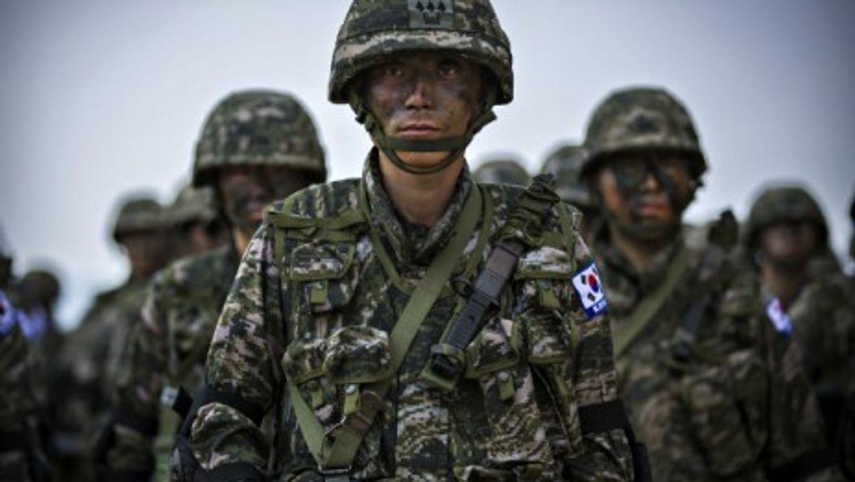 South Korean marines during operation Cobra Gold 2014