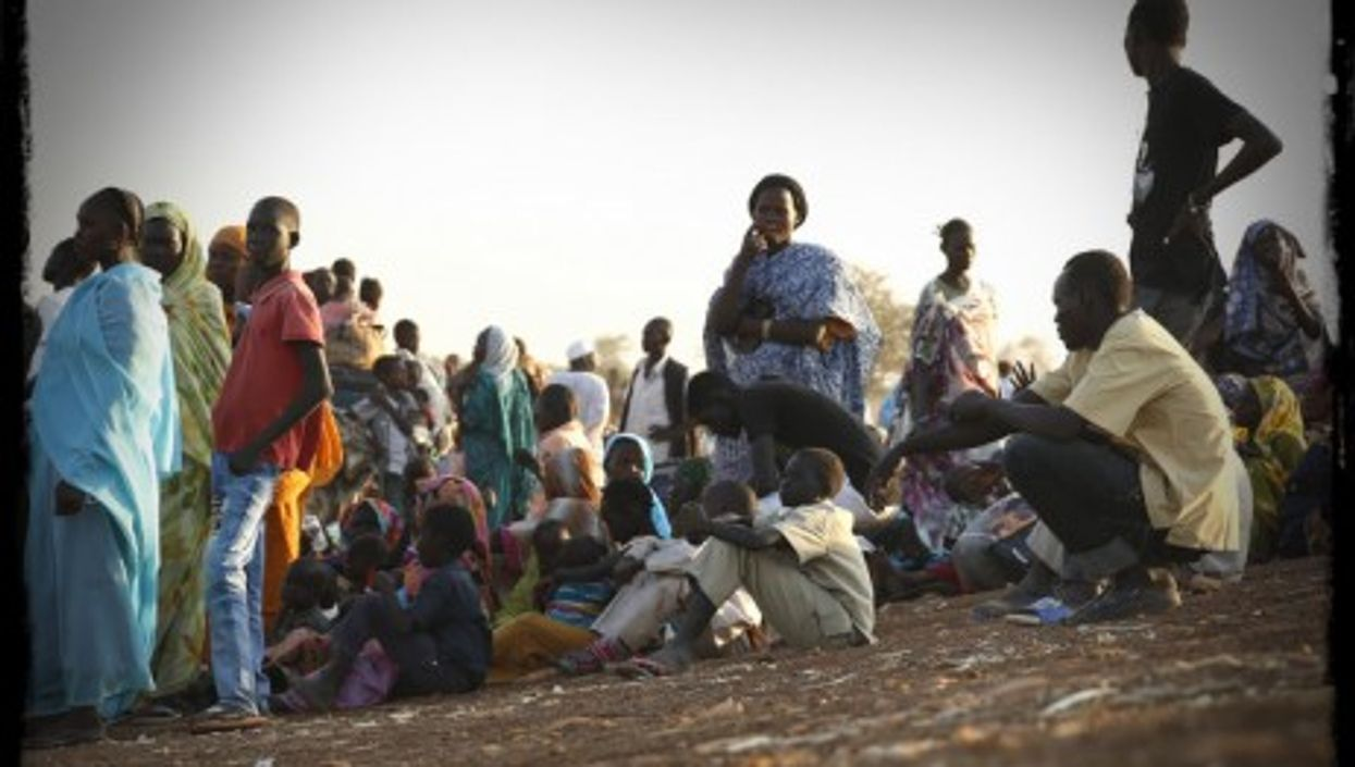 South Sudanese refugees who fled the violence