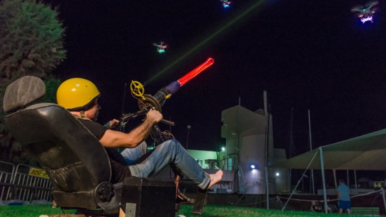 Space Invaders using real drones