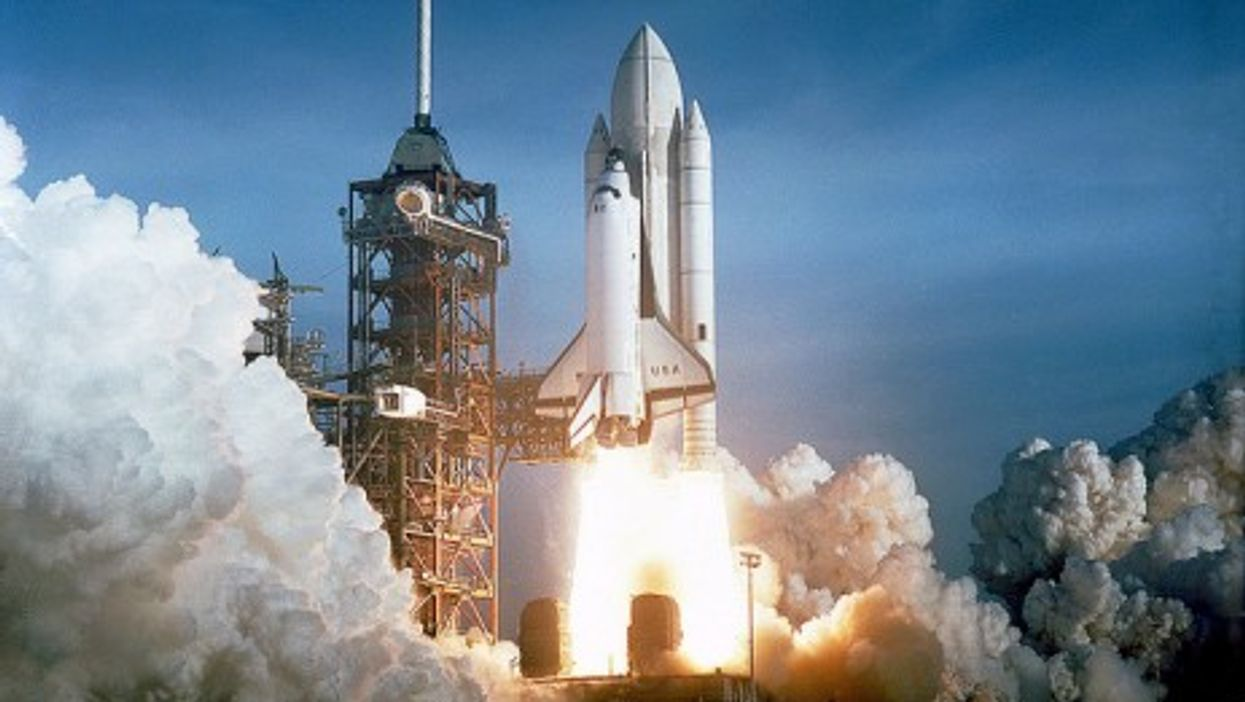 Space Shuttle Columbia STS-1 launch, April 12, 1981 (NASA)