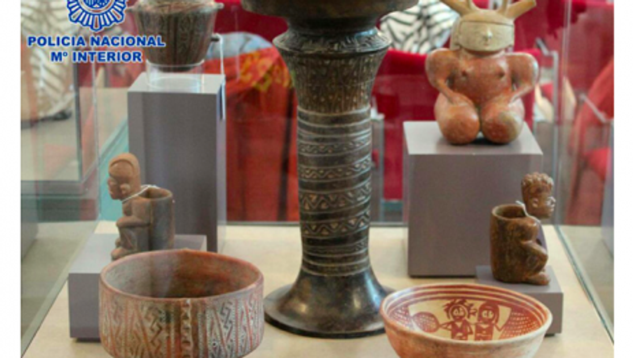 Spanish police provided images of the looted treasures