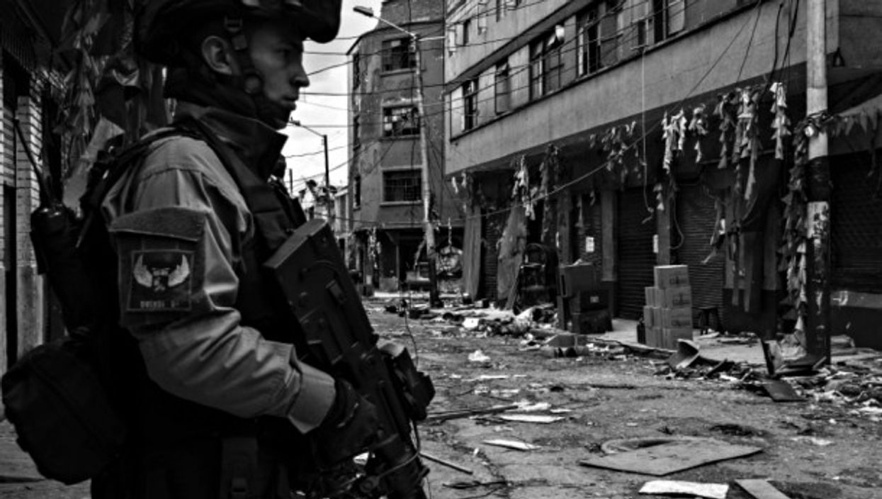 Special forces in Bogota, Colombia