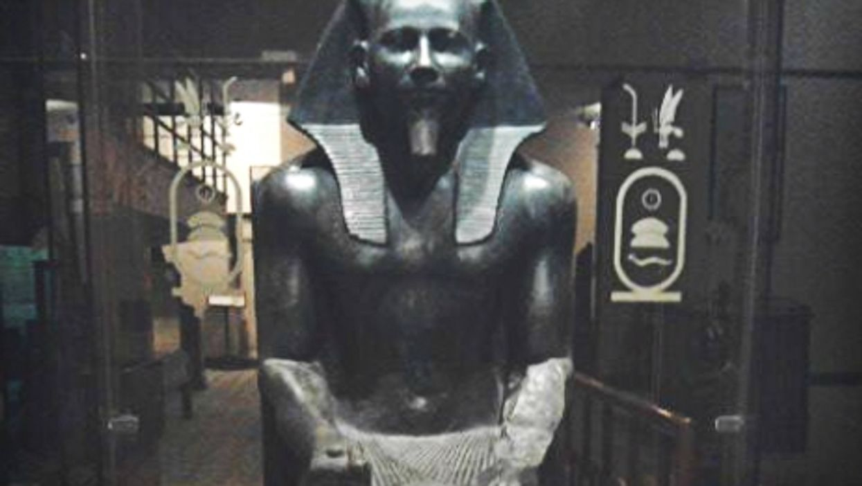 Statue of a Pharaoh in the Egyptian Agricultural Museum