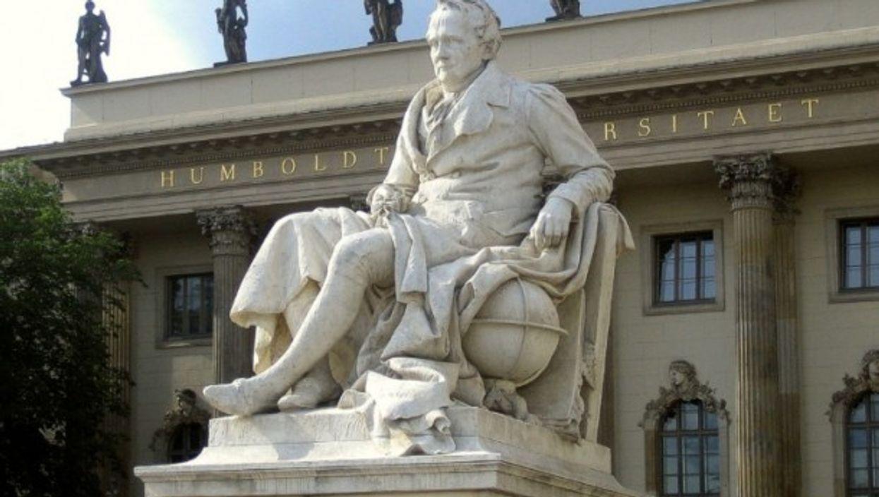 Statue of Alexander Von Humboldt in Berlin