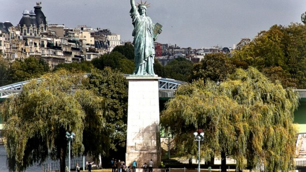 Statue of Liberty replica on the Île aux Cygnes in Paris