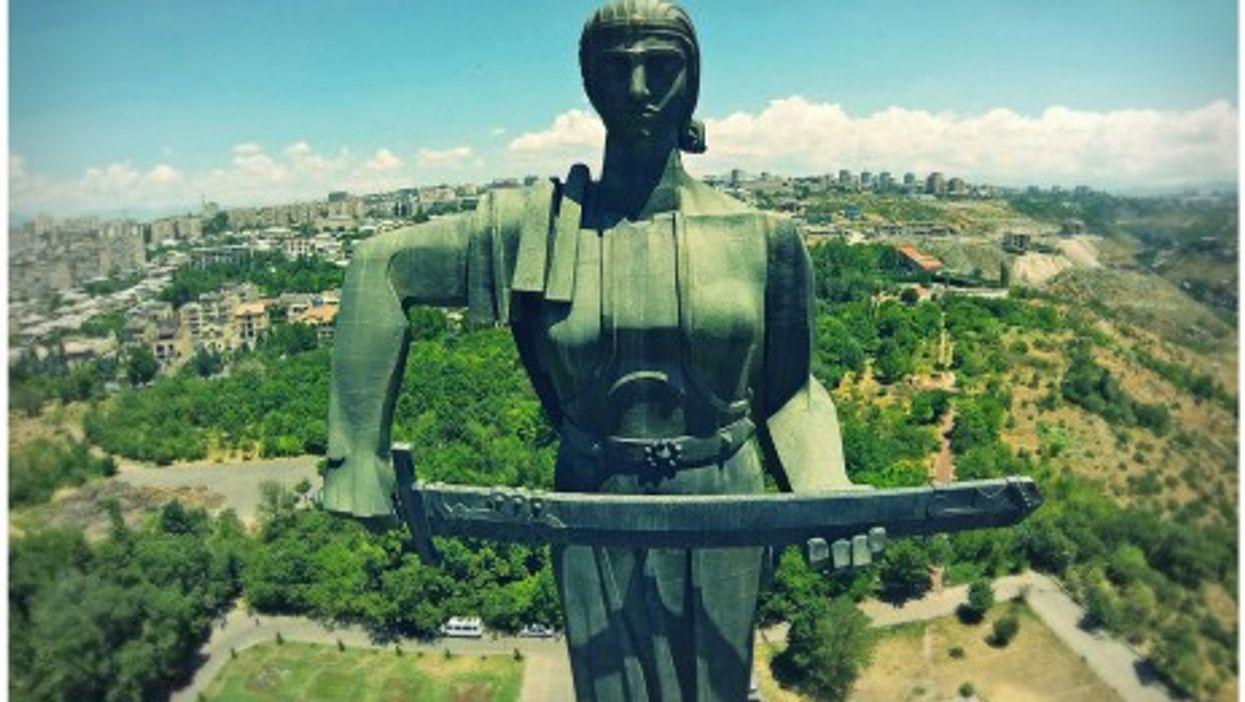 "Statue of ""Mother Armenia"" in Yerevan"