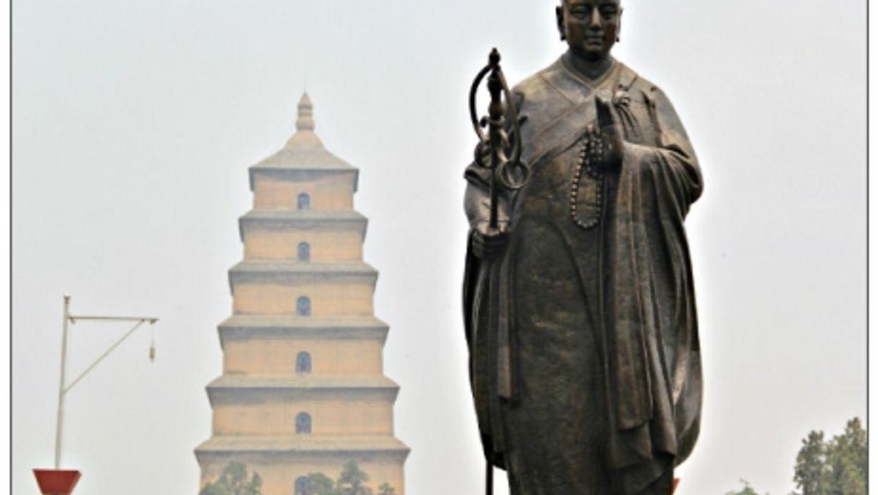 Statue of Xuanzang in Xian, China.
