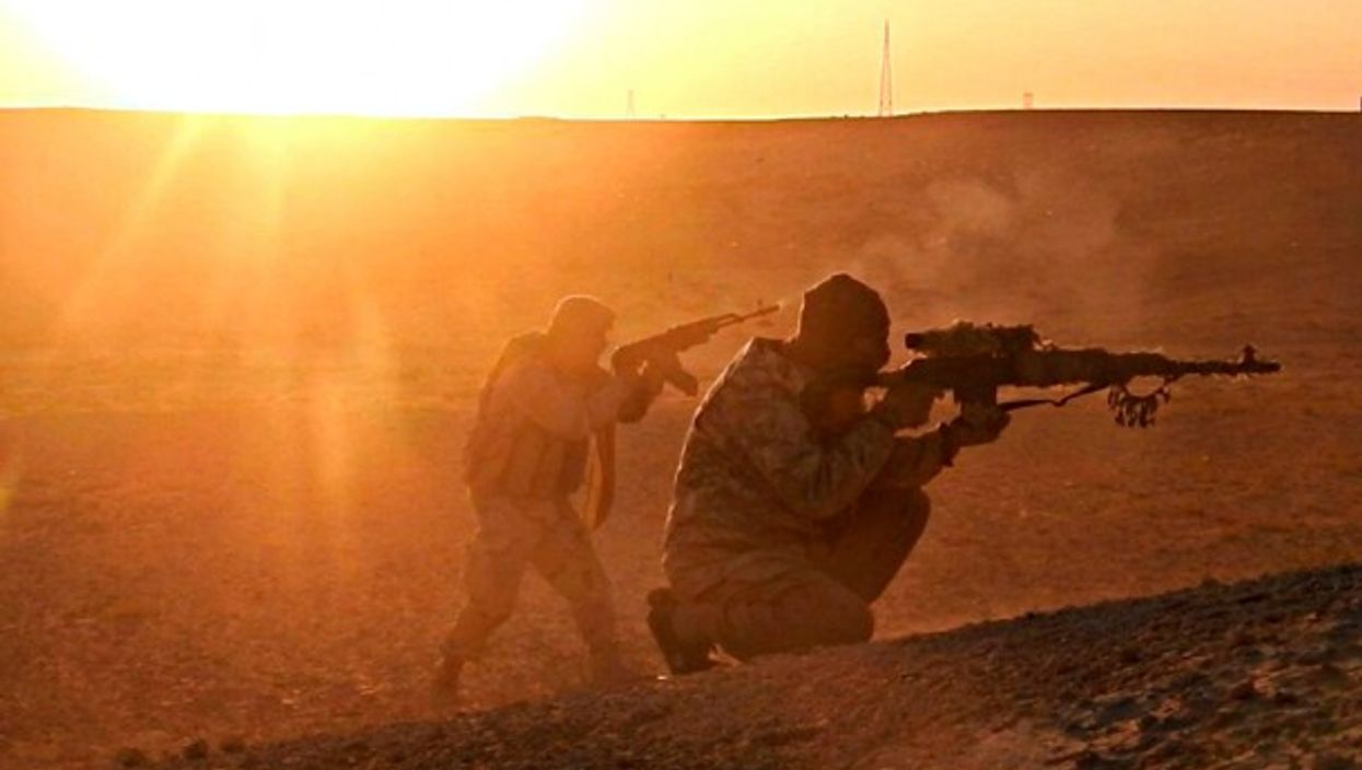 Still image from a propaganda ISIS video
