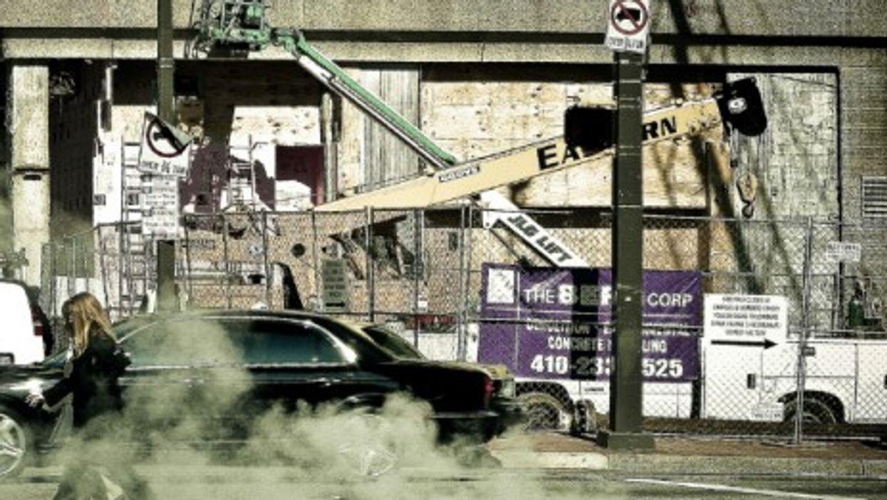 Street scene in Baltimore, Maryland