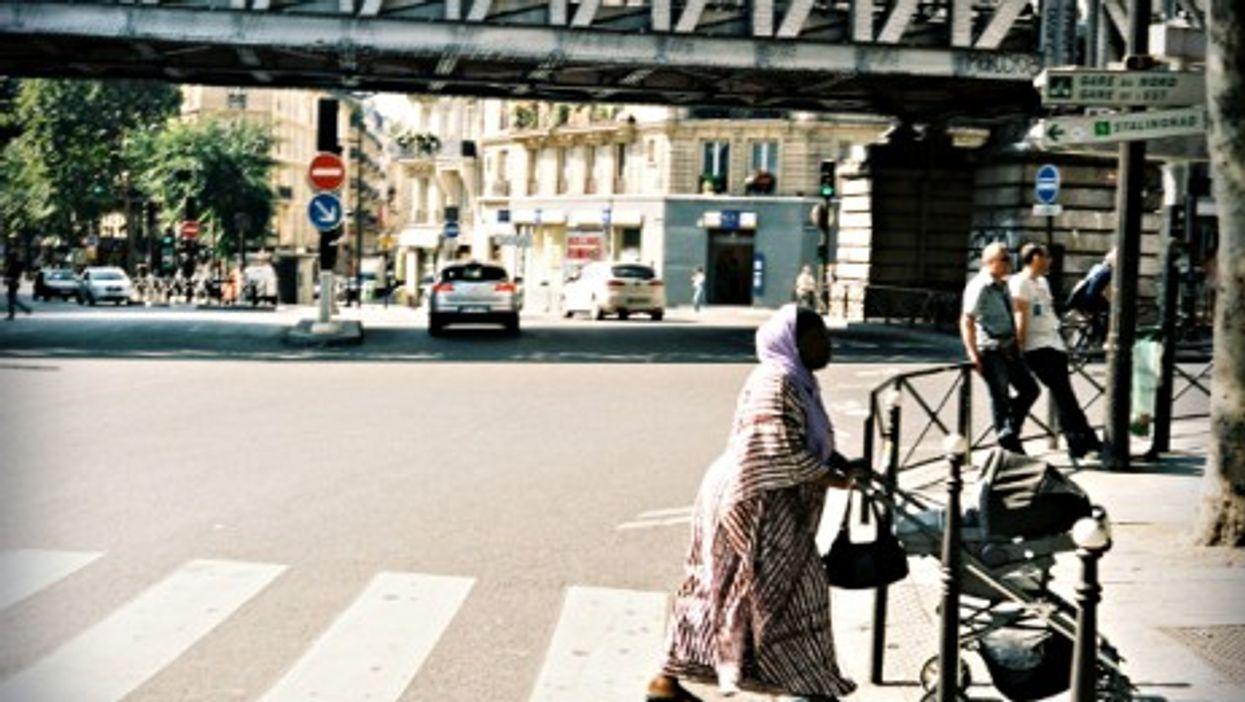 Street scene in Paris' 18th arrondissement