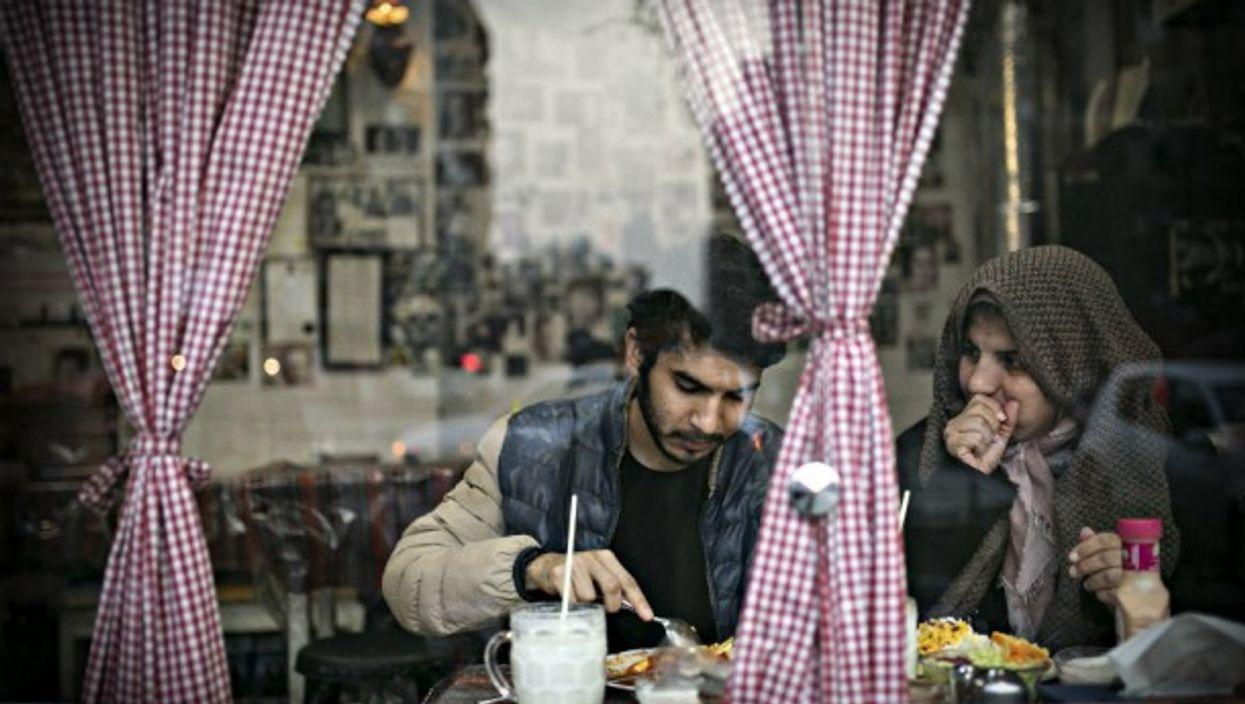 Street scene last week in Tehran
