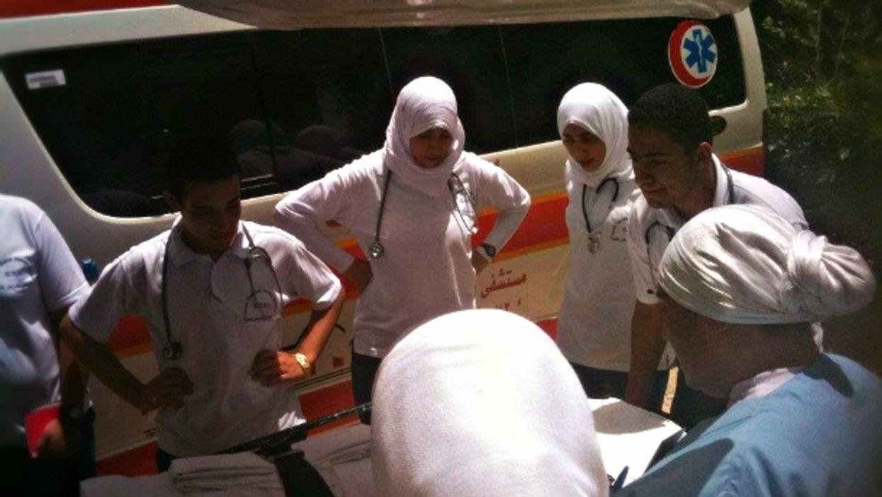 Students at Gouna Technical Nursing Institute