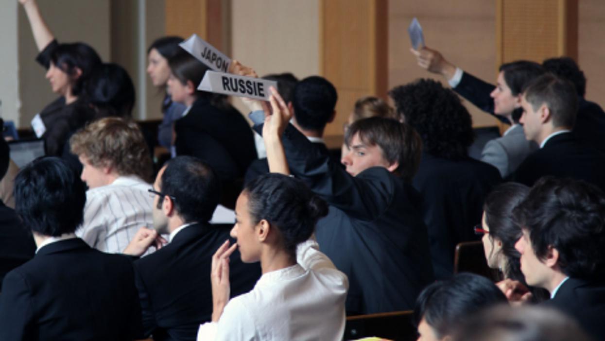 Students at Paris' elite liberal arts institution Sciences Po (Knowtex)