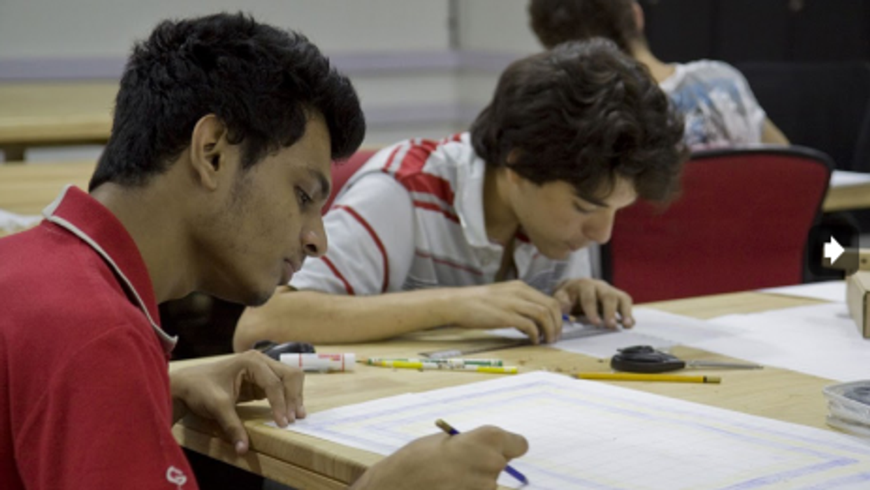 Students converge at new Pune campus.