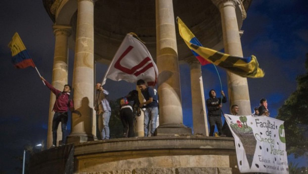 Students in Bogota march for more resources