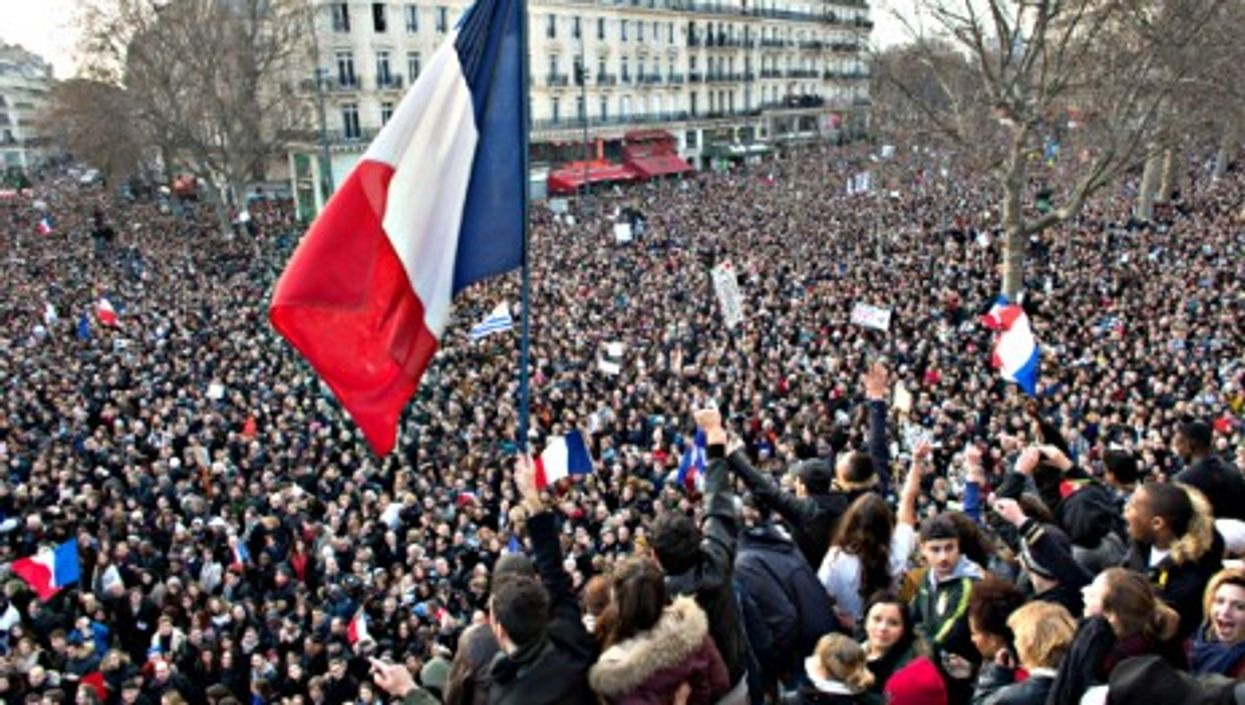"""Sunday's """"Je suis Charlie"""" march in Paris gathered at least 1.5 million"""
