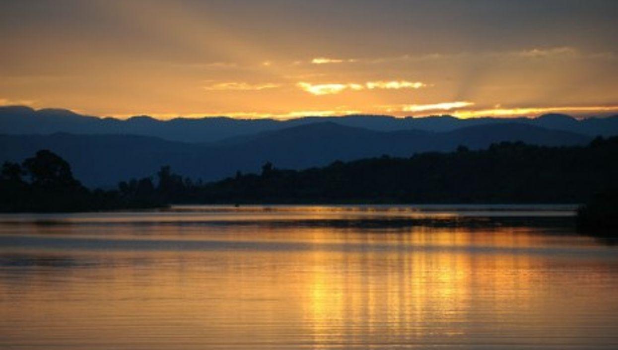 Sunset on Idjwi Island