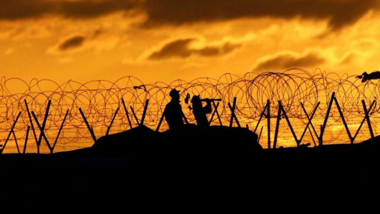 Sunset on the Syrian border