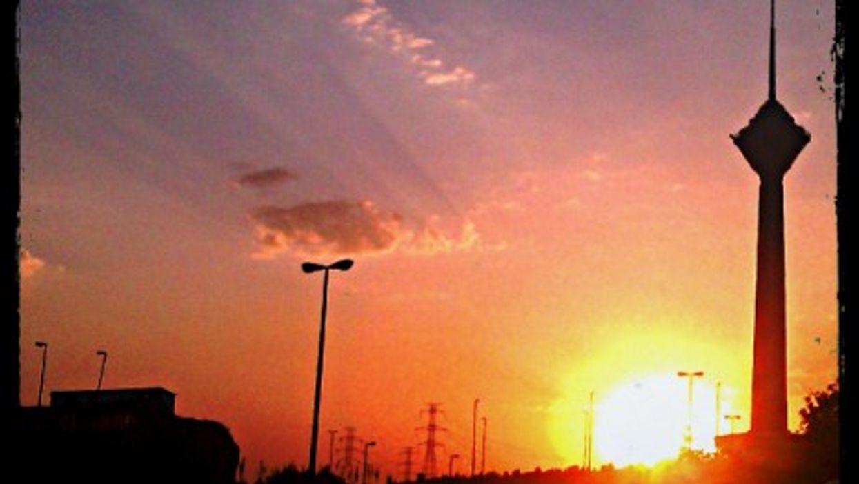 Sunset over Tehran