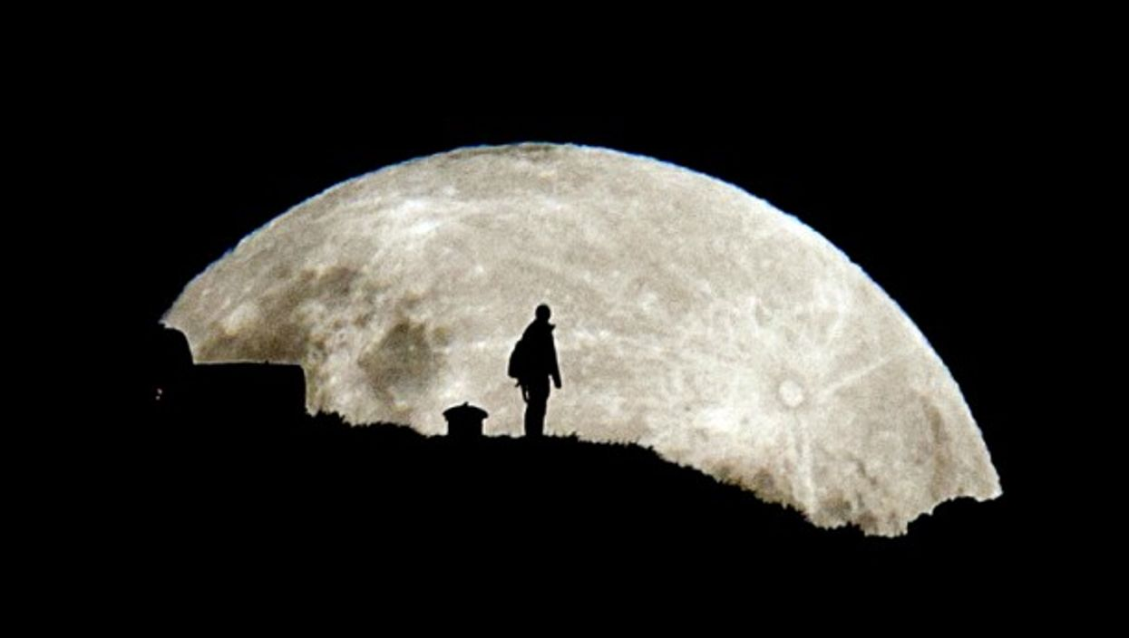 'Supermoon' in Auckland, New Zealand