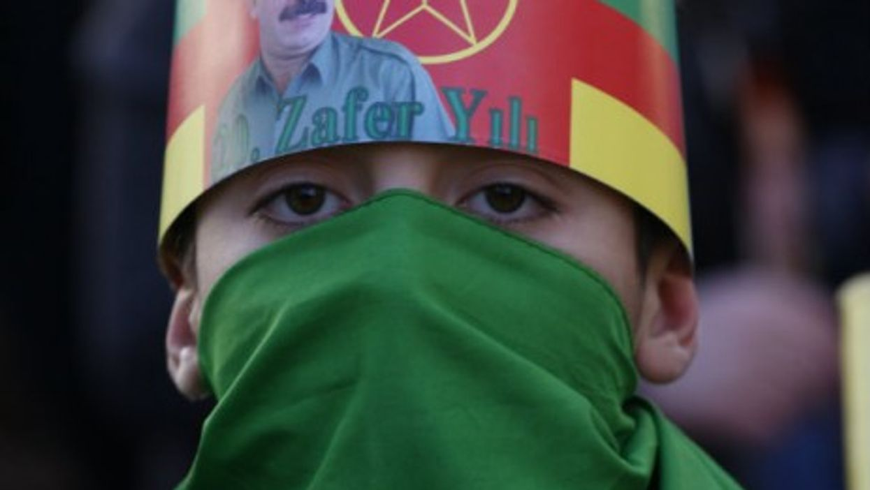 Support for Ocalan at a pro-PKK rally in Athens last year
