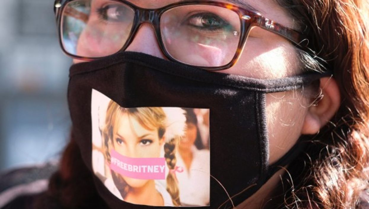 Supporters of Britney Spears take part in #FreeBritney protest in Los Angeles