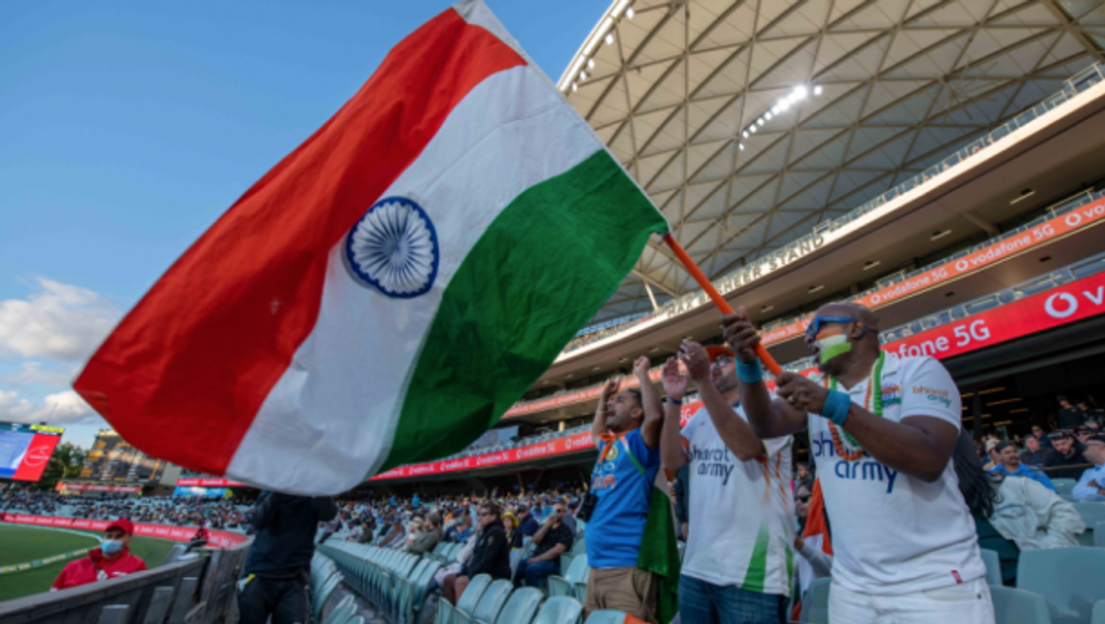 Supporters of India's cricket team