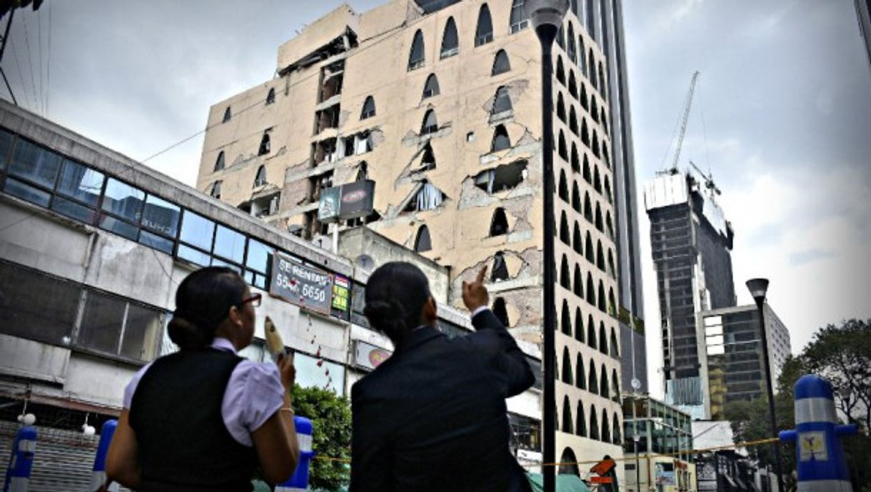 Surveying damage after recent earthquake in Mexico City