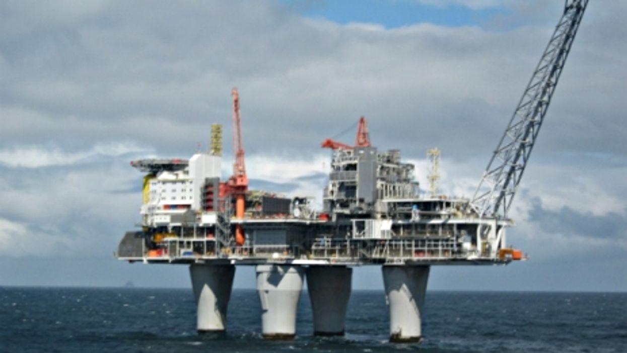 Sweden's Troll A oil platform
