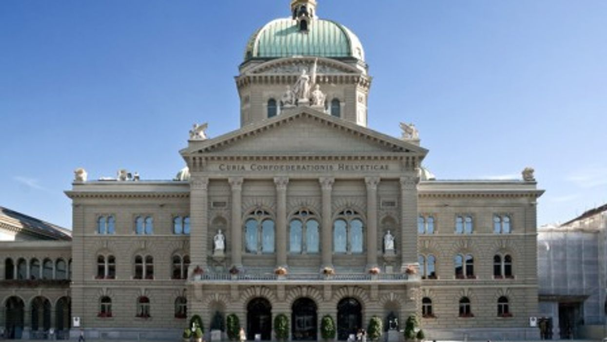 Switzerland's Federal Assembly building in Bern (Wikipedia)