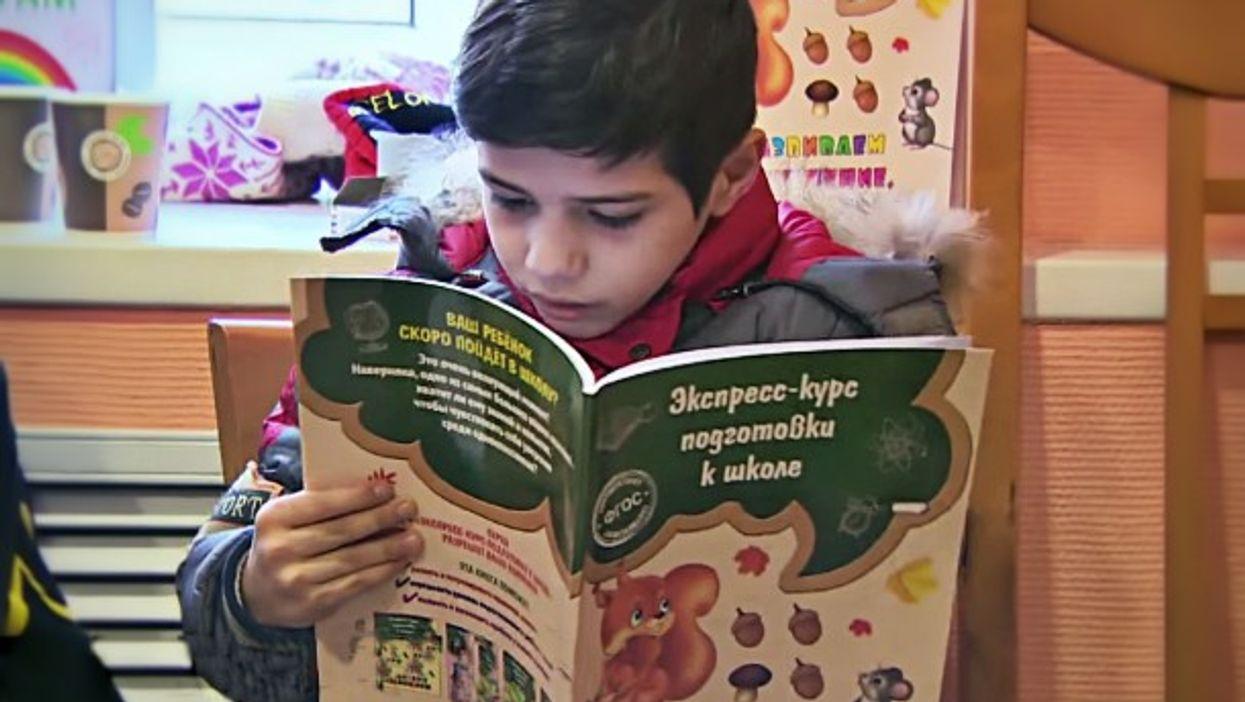 Syrian child at the Noginsk school for refugees
