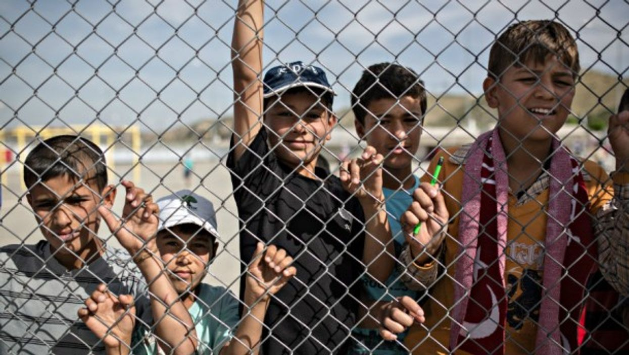 Syrian refugees across the border in Gaziantep, Turkey