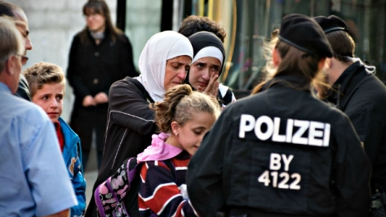 Syrian refugees arriving in Germany