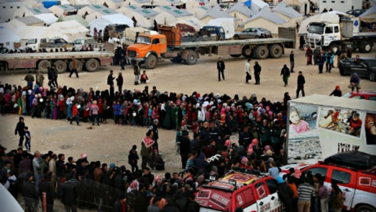 Syrian refugees in the Turkish border town of Kilis